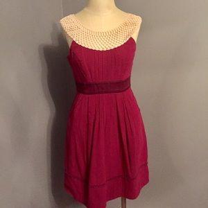 Anthropologie Floreat Cotton Lace Neckline Dress 2